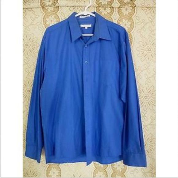 bdbb1bc5 Enrico Rossini Shirts | Mens Blue Button Up Shirt Size L | Poshmark